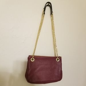 Valentina Red Leather purse crossbody or shoulder